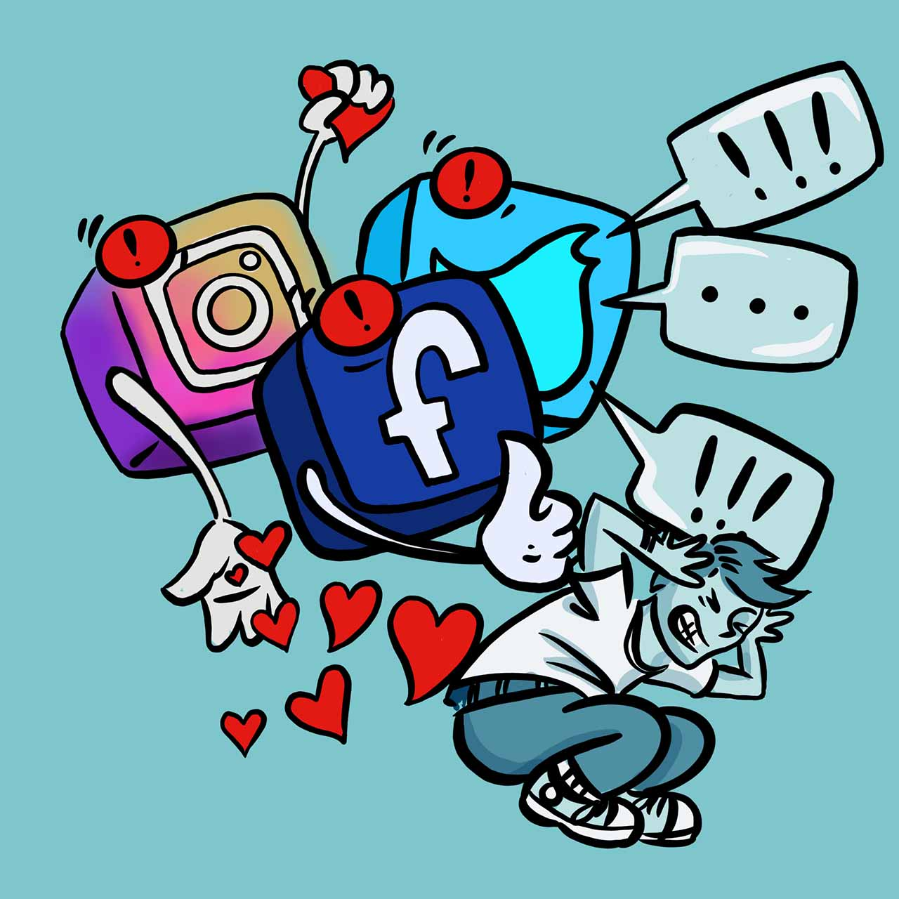 Social media noise.